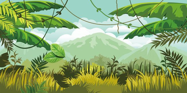 ليف نبات شجرة القيقب الخلفية Jungle Illustration Jungle Pictures Background Pictures
