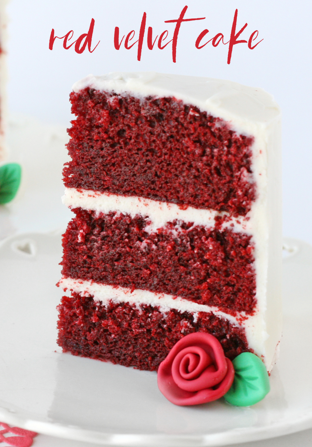 The Most Perfect Red Velvet Cake Finished Off With Decadent Cream Cheese Frosting Is The Ideal Cake In 2020 Velvet Cake Recipes Red Velvet Cake Recipe Red Velvet Cake