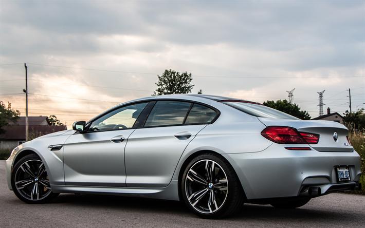 BMW M6 Gran Coupe >> Download Wallpapers Bmw M6 Gran Coupe 2017 4k Silver M6
