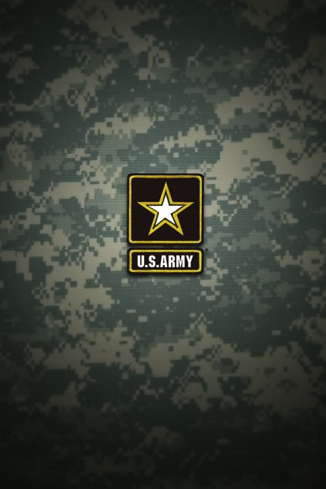 US Army logo on green iPhone Wallpaper background iphone
