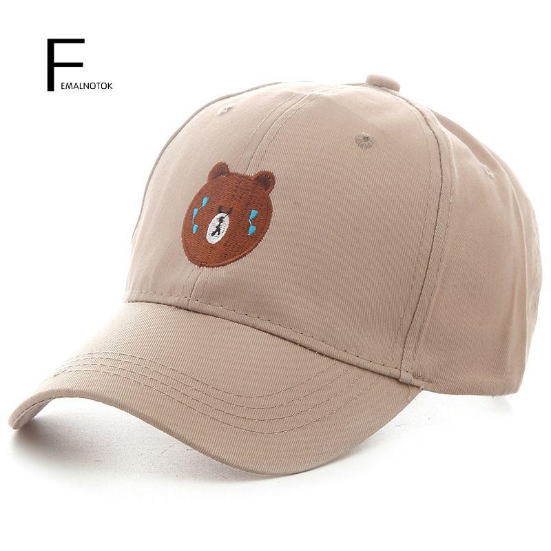 2017 Spring New Arrival Casual Baseball Cap Cute Snapback Caps Brand Design Bear Cotton Hats Women Cap Caps For Women Cotton Hats Sports Caps