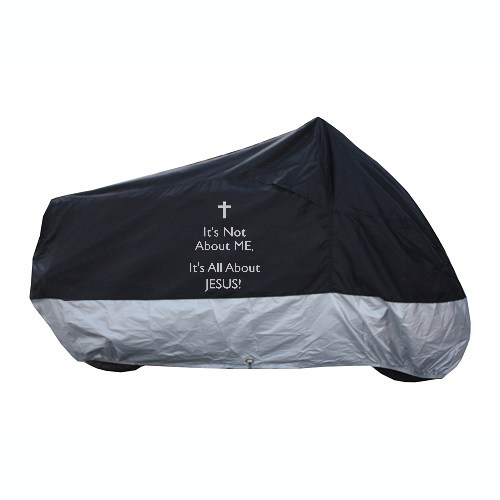 Personalized motorcycle cover It's not about me, it's all about Jesus! #personalizedmotorcyclecover #Jesus #eastergift #gift #easter #custommotorcyclecover