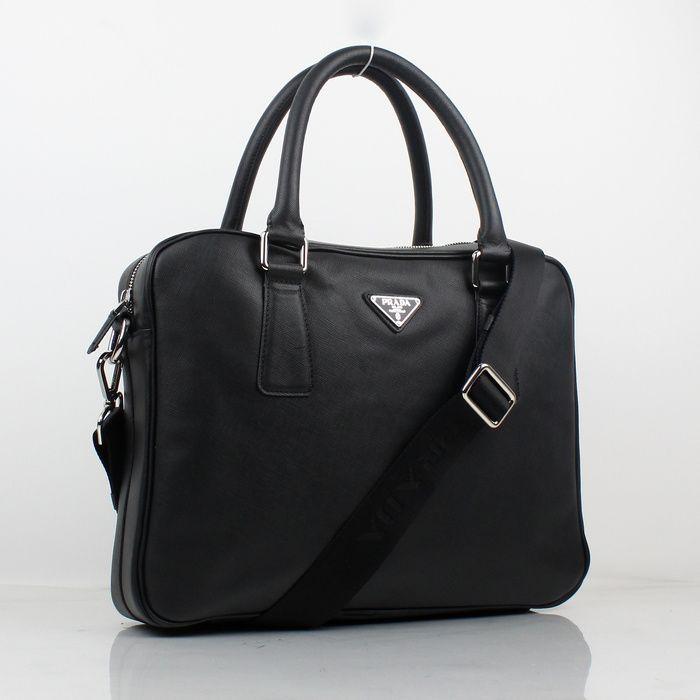 7ca914ade4fc  275.00 VA0891 - Prada black Men Handbags replica prada prada outlet online  http