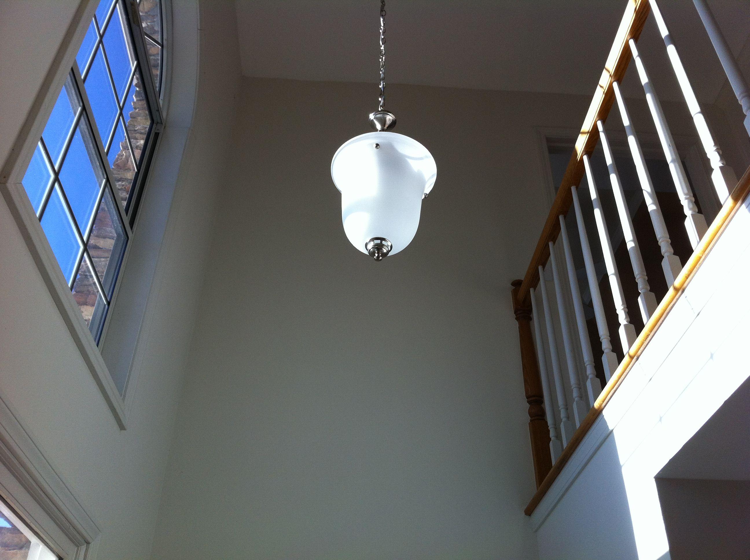 New foyer light