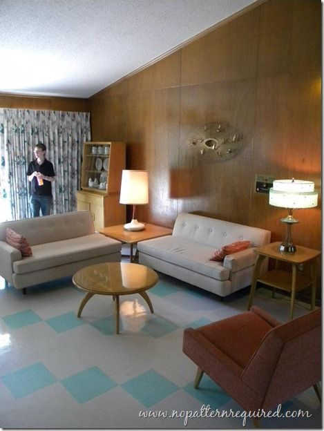 The Citation In Tulsa Ok Love The Wood Paneled Walls And The Aqua Accent Tile Mid Century Modern Living Room Retro Living Rooms Mid Century Modern House