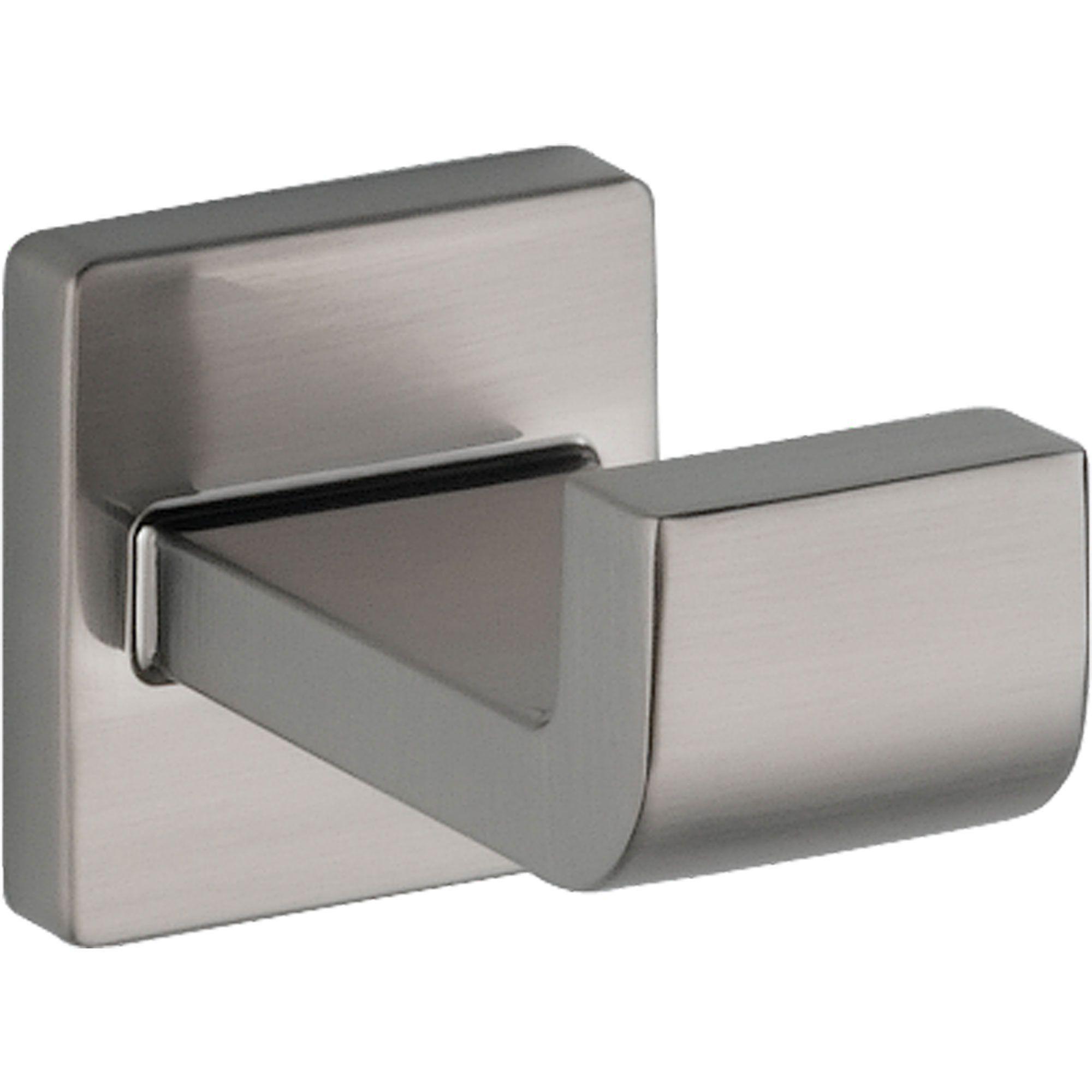 Delta Ara Stainless Steel Finish Modern Bathroom Accessory Robe Hook ...