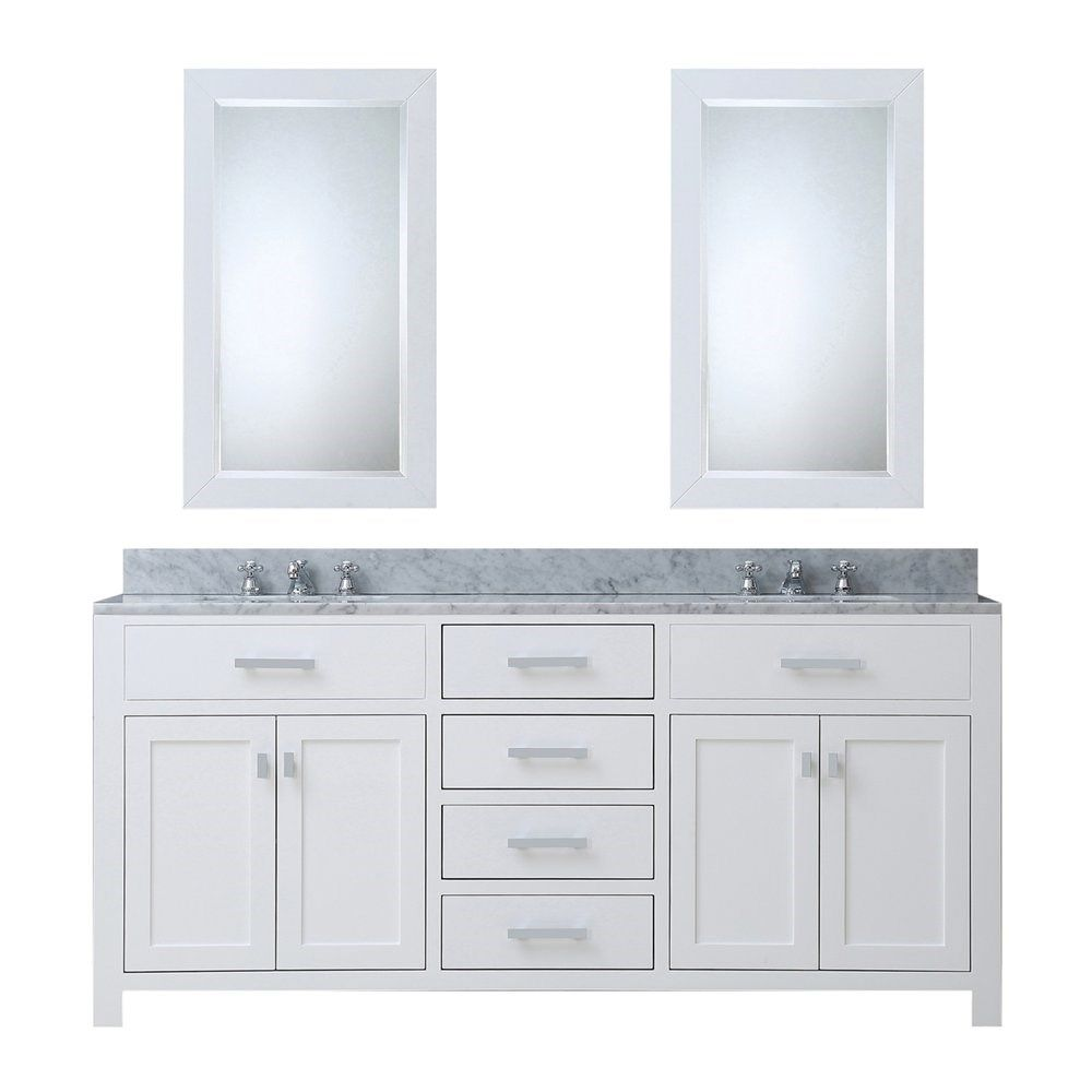 Water Creation Madison 72 Solid White Double Sink Bathroom Vanity Homeclick