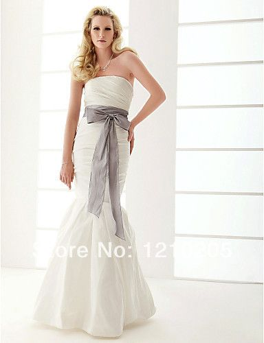 Wedding dress mermaid strapless floor-length
