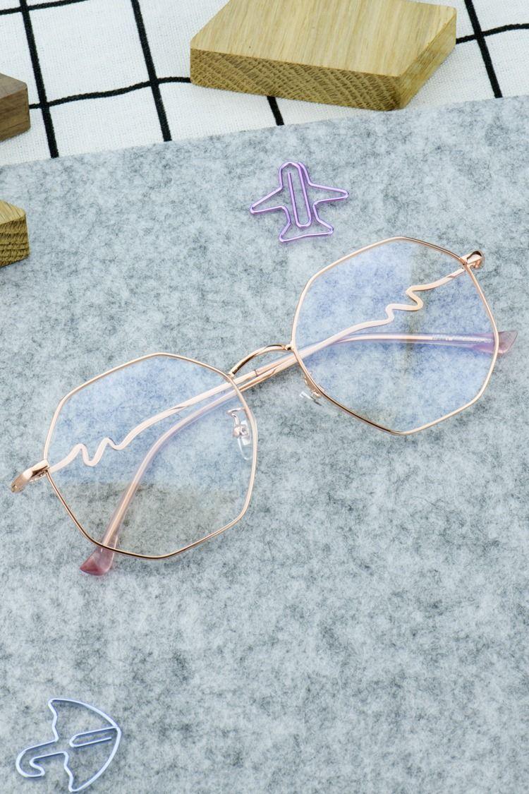 Hs821 Rose Gold Armacoes De Oculos Oculos De Grau Feminino