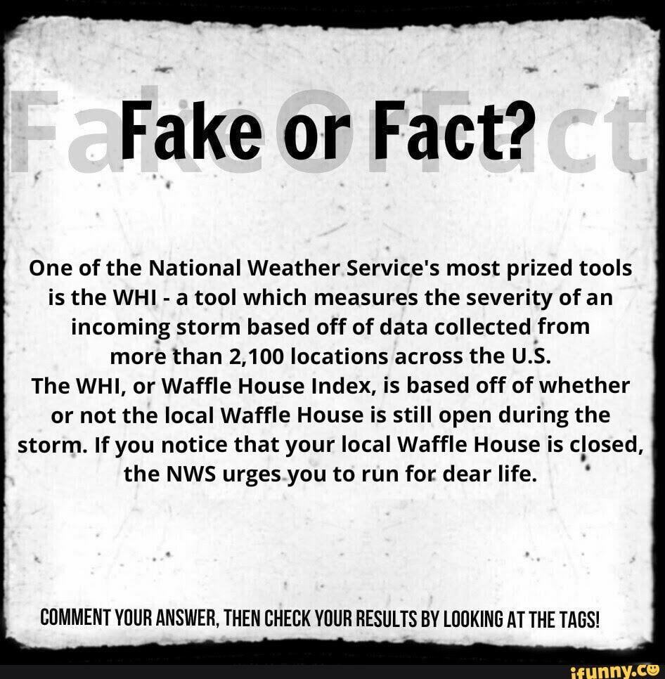 Waffle House Hurricane Meme