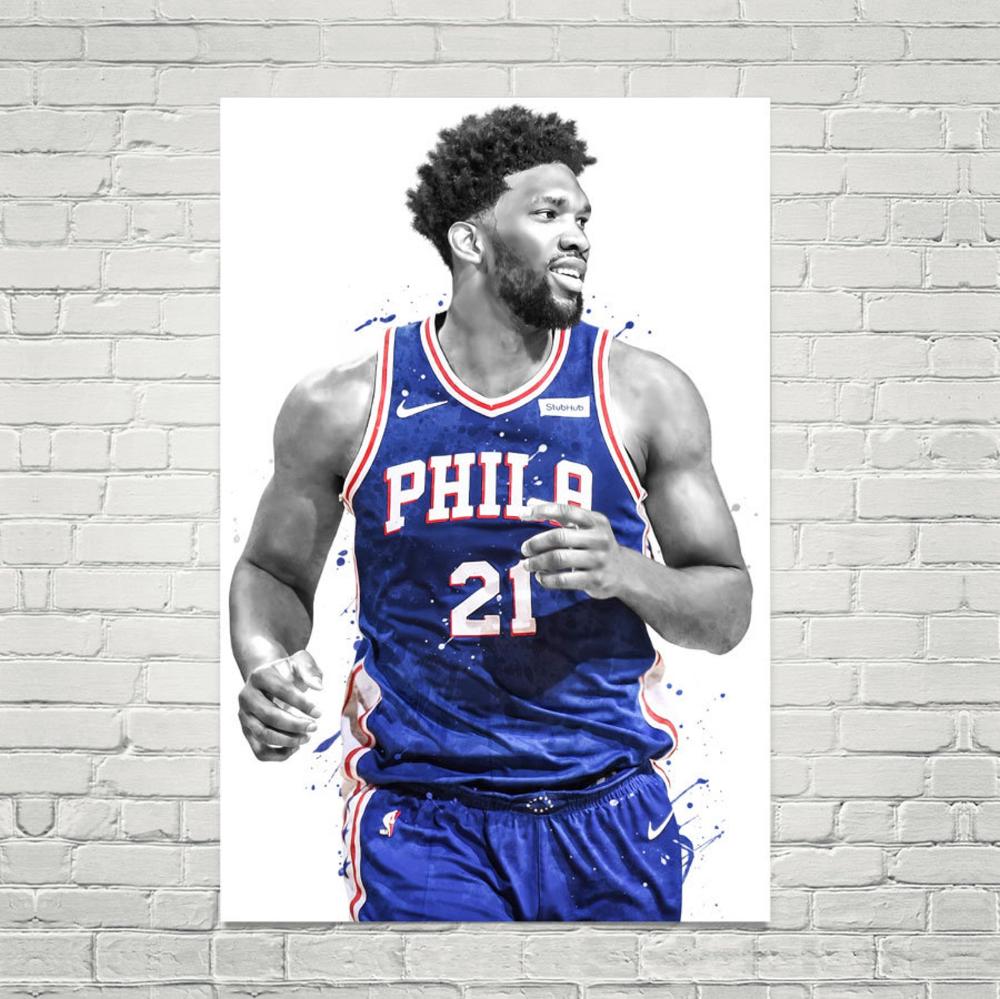 Joel Embiid Philadelphia Poster Basketball Print Sports Wall Etsy Philadelphia Poster Sports Wall Sports Wall Art
