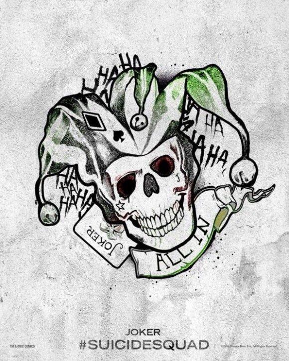 Suicide Squad Des Posters Tattoo Des Personnages Joker Tatoo