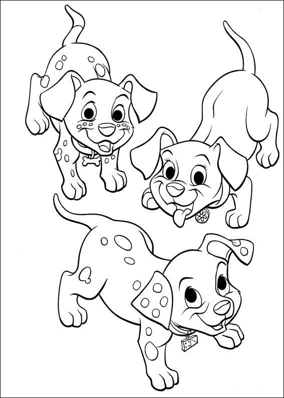 Coloring Page 102 Dalmations Kids N Fun