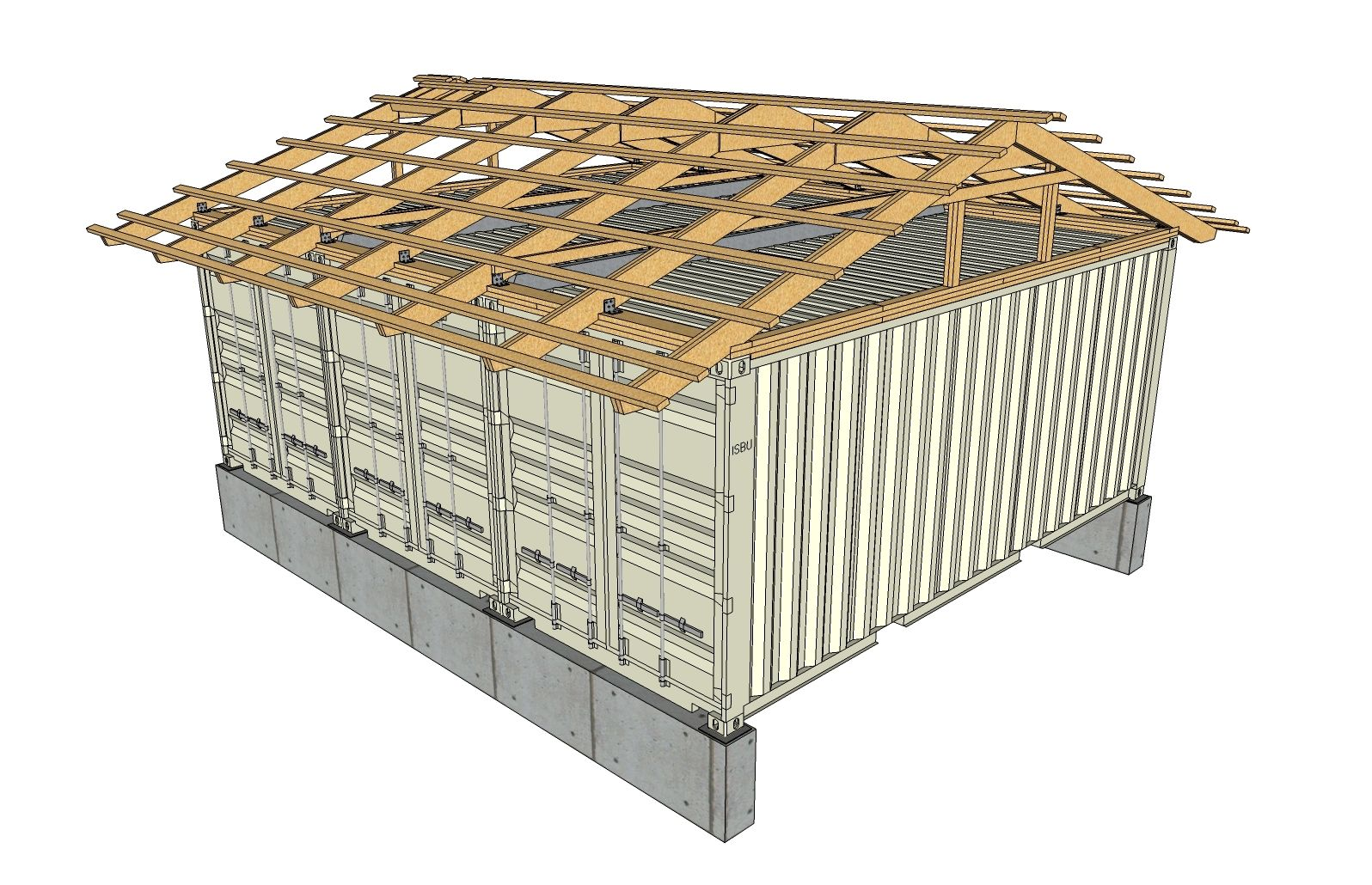 Metal Shed Roof Framing Container House Building A Container Home Shipping Container