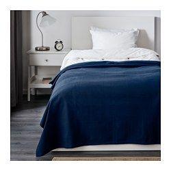Indira Bedspread Dark Blue 59x98 Ikea Ikea Bedspreads Bed Spreads Single Size Bed