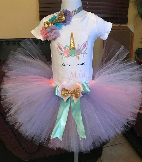 9e9be38b346c2 Unicorn tutu set, unicorn birthday outfit, first birthday party girl, unicorn  birthday shirt, unicor