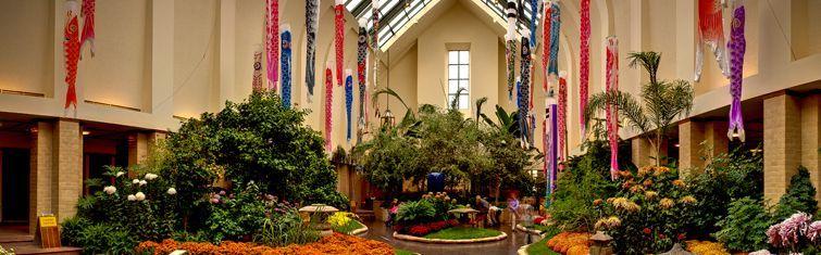 Lauritzen Gardens   Omaha Botanical Center. Miracle On Farnam U0026 Holiday  Poinsettia Show. Open