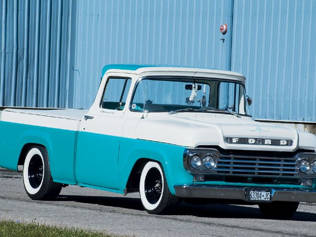 1959 Ford Pickup 1959 Ford F100 With Images Vintage Pickup