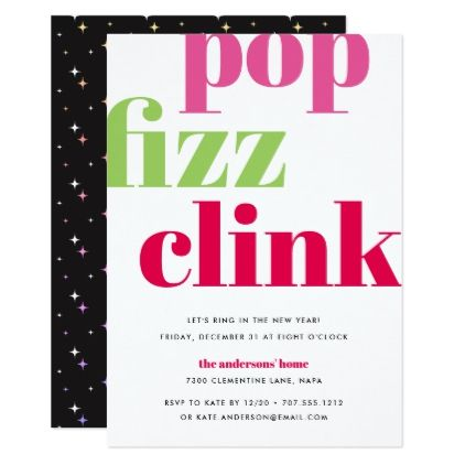 Modern Pop  New YearS Eve Party Invitation  Invitation Ideas