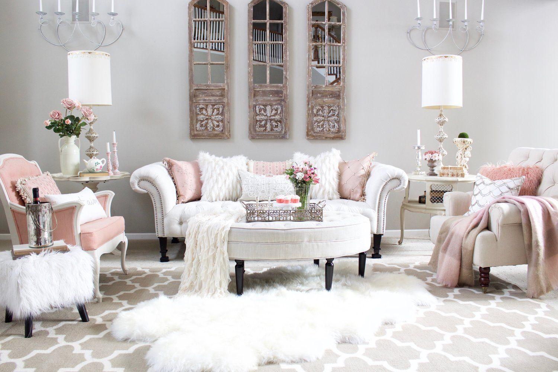 Romantic Valentines Decor Blush Pink And White Elegant French