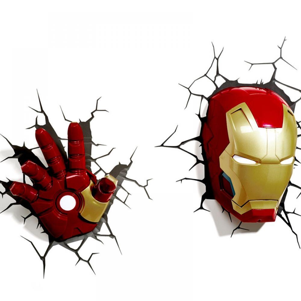 Marvel Avengers Wall Lamp Mygadgetonline Com Em 2020 Quadro Super Herois Parede 3d Arte Para Canecas