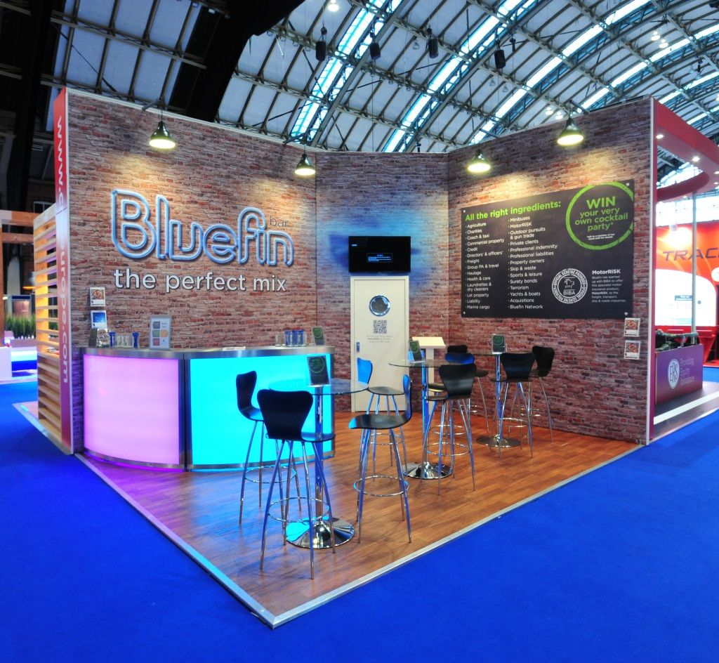 Trade Show Booth Wood Panels : Bluefin exhibition stand at biba backlit trade show