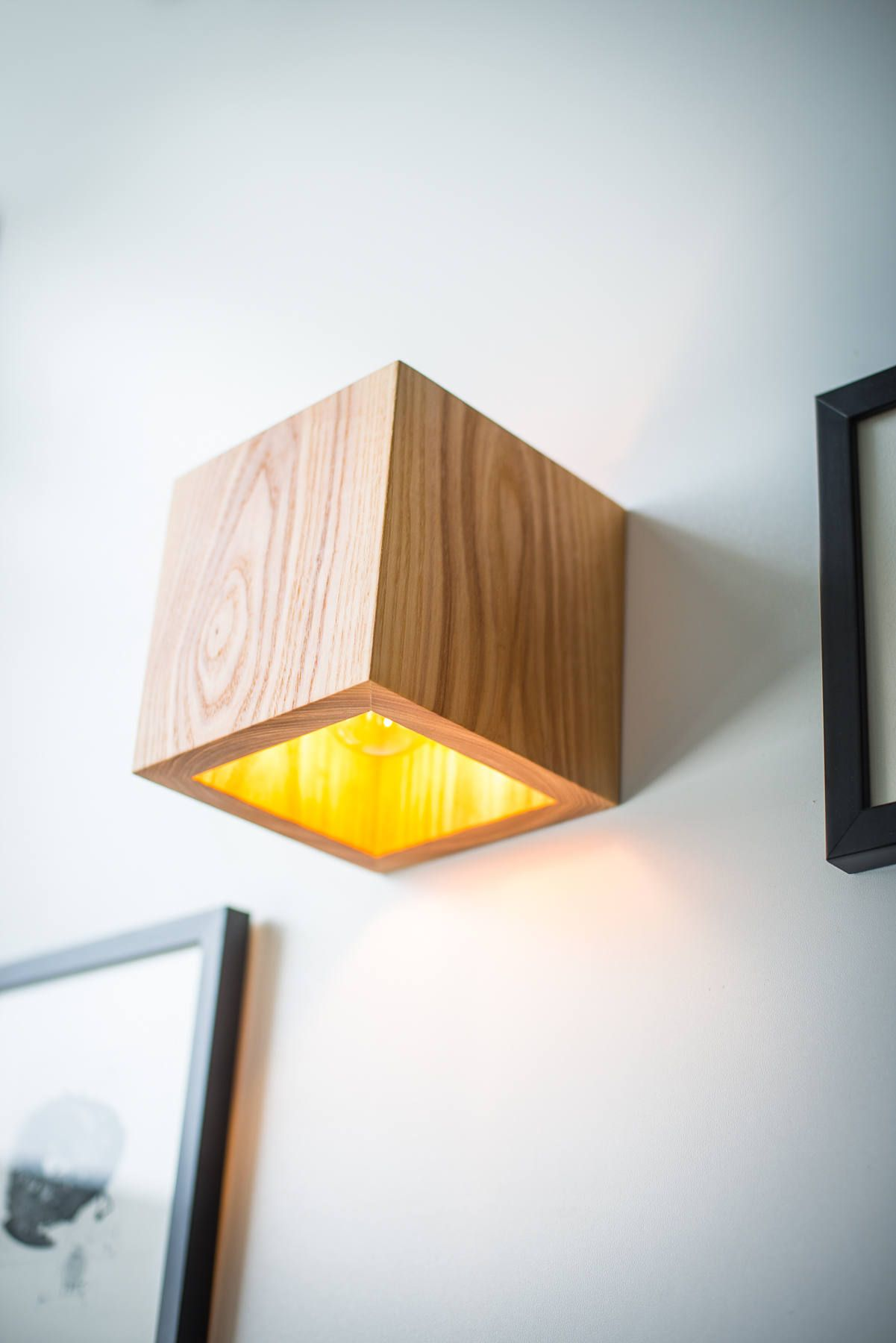 Wall sconce Q445 wooden lamp. above bed decor industrial
