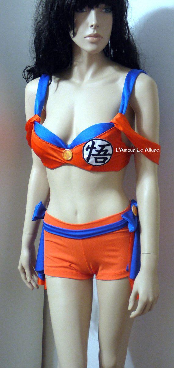 e2f584115e69dcf9c6221fa80b2716f0 goku costume, cosplay, rave, rave bra, comicon, dragon ball z,Dragon Ball Z Womens Underwear