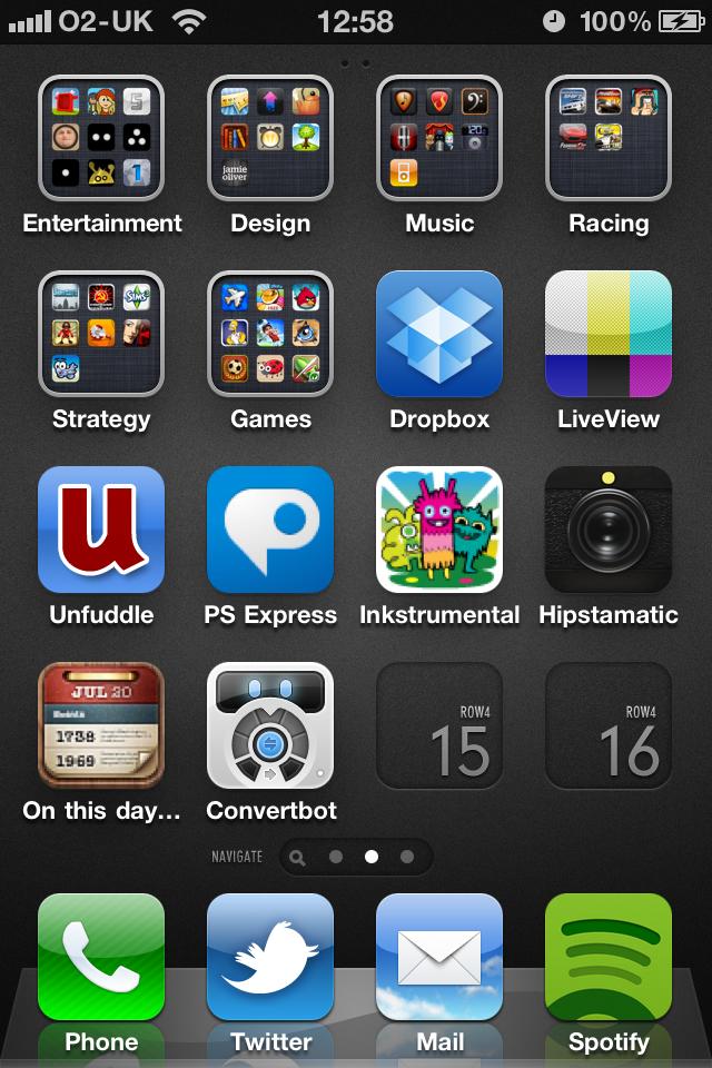 iPhone Home Screen Grid Book week, App design