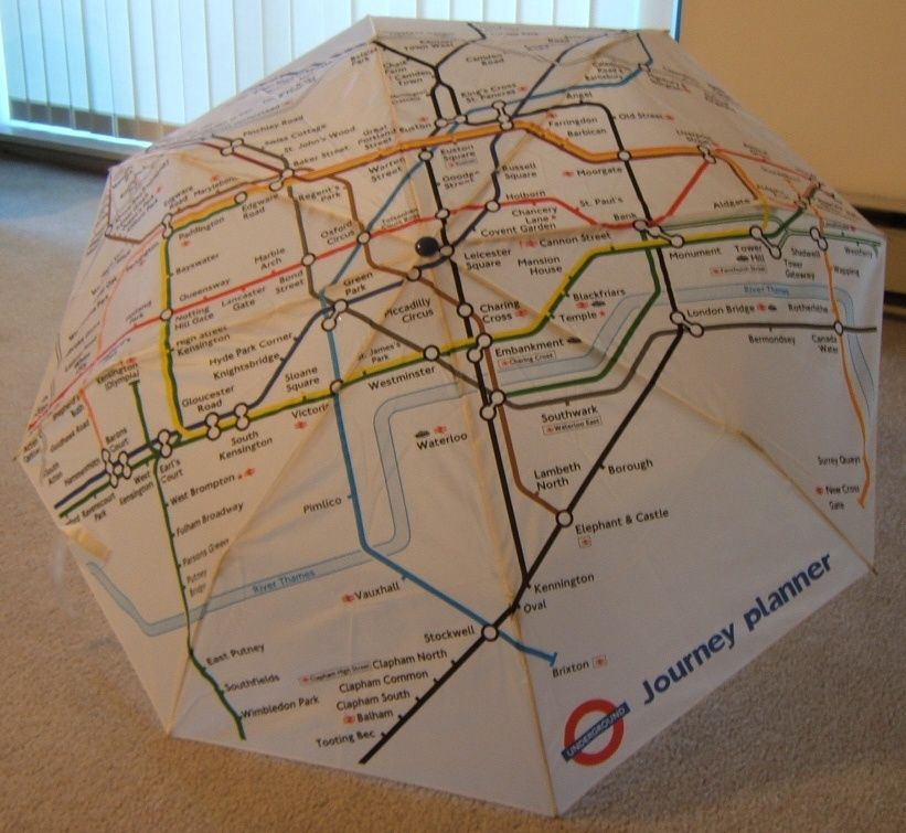 Tube Map Journey Planner London Underground trip planner umbrella. I love maps! This would  Tube Map Journey Planner