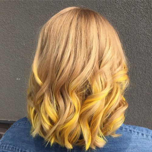 21 Surprisingly Trendy Yellow Hair Color Ideas In 2021 Yellow Hair Color Yellow Hair Yellow Blonde Hair
