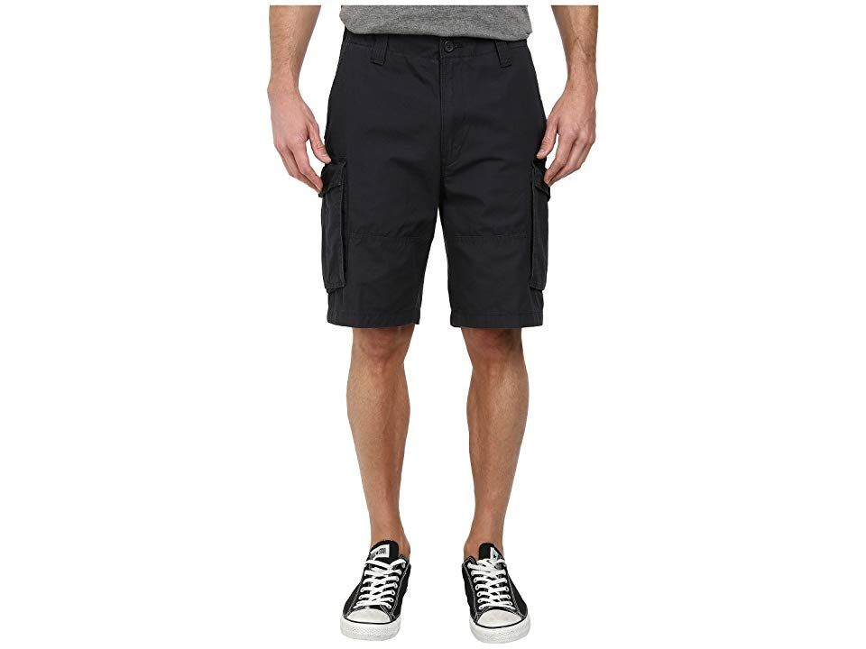 Nautica Ripstop Cargo Shorts Off Black Mens Shorts Your goto Nautica shorts for active warmweather wear Durable ripstop fabrication Belt loop waistband Zip fly and button...