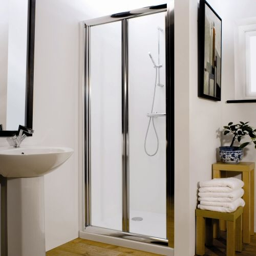 1100mm Sienna Pacific Bi Fold Shower Door Shower Doors Bifold Shower Door Cheap Bathroom Suites