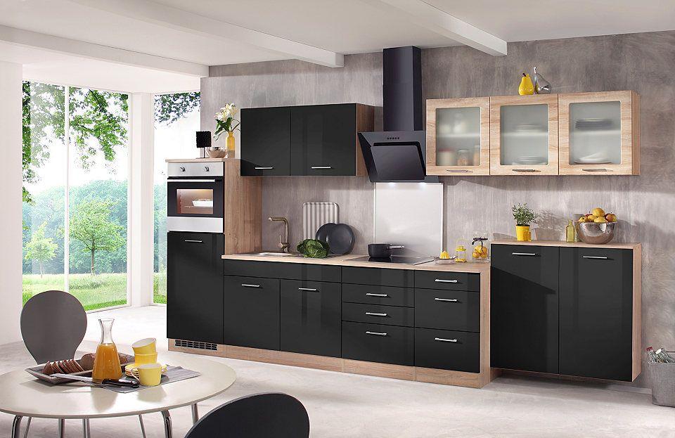 HELD MÖBEL Küchenzeile mit E-Geräten »Prato, Breite 370 cm« Jetzt - küchenblock 260 cm