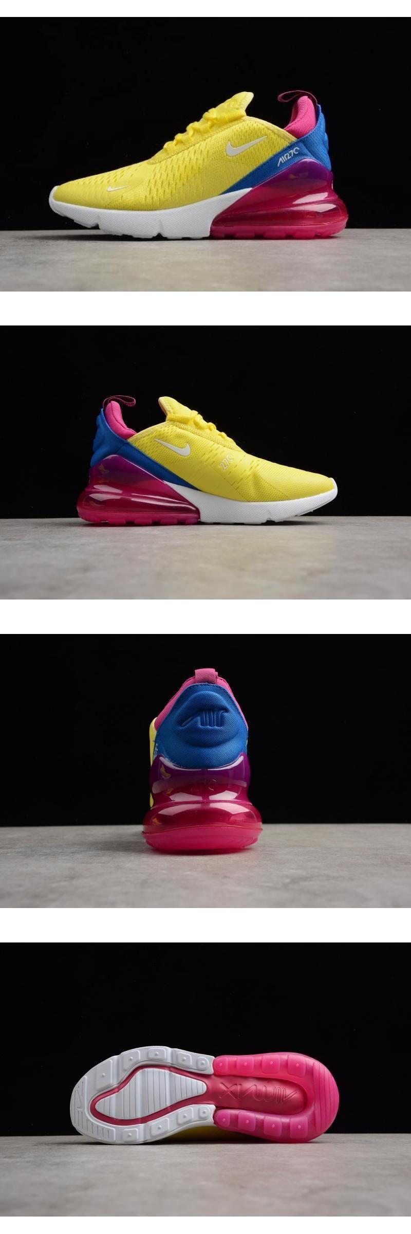 Women's Nike Air Max 270 Bright Lemon YellowWhite Racer
