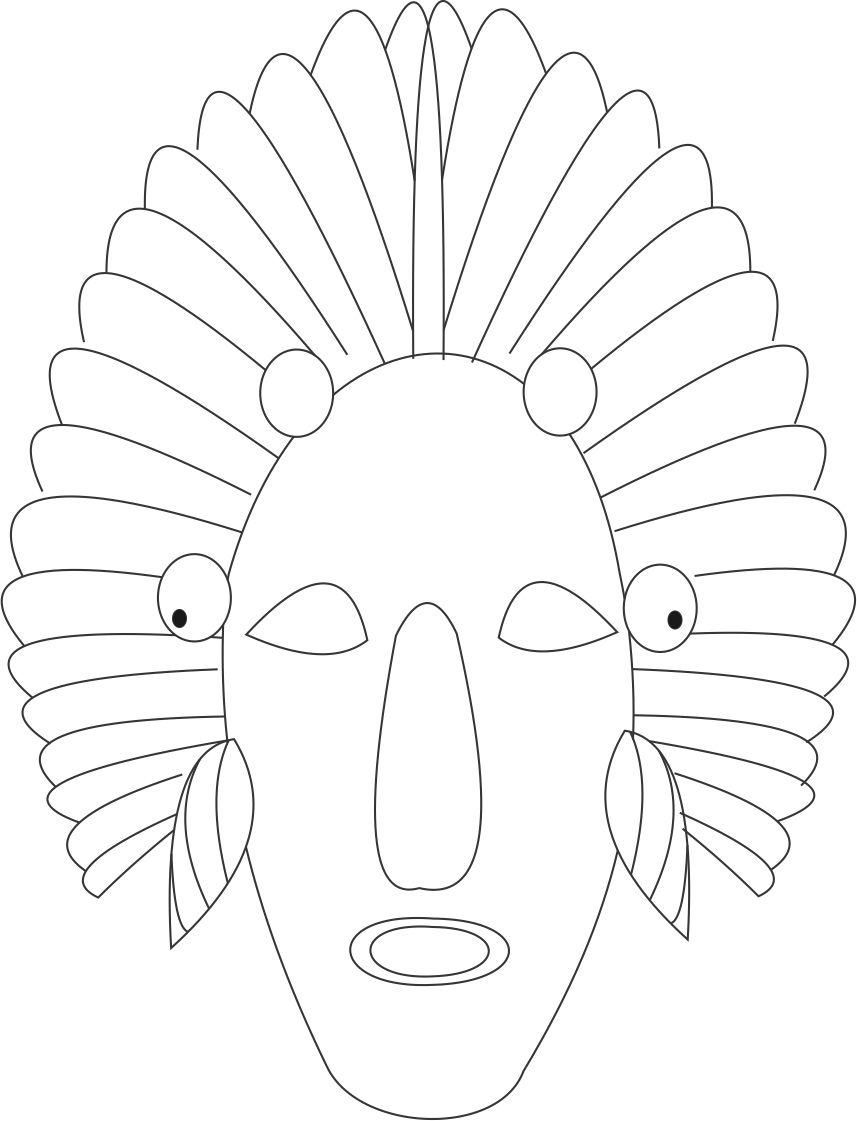 Red Indian printable coloring page for kids Coloring Printable