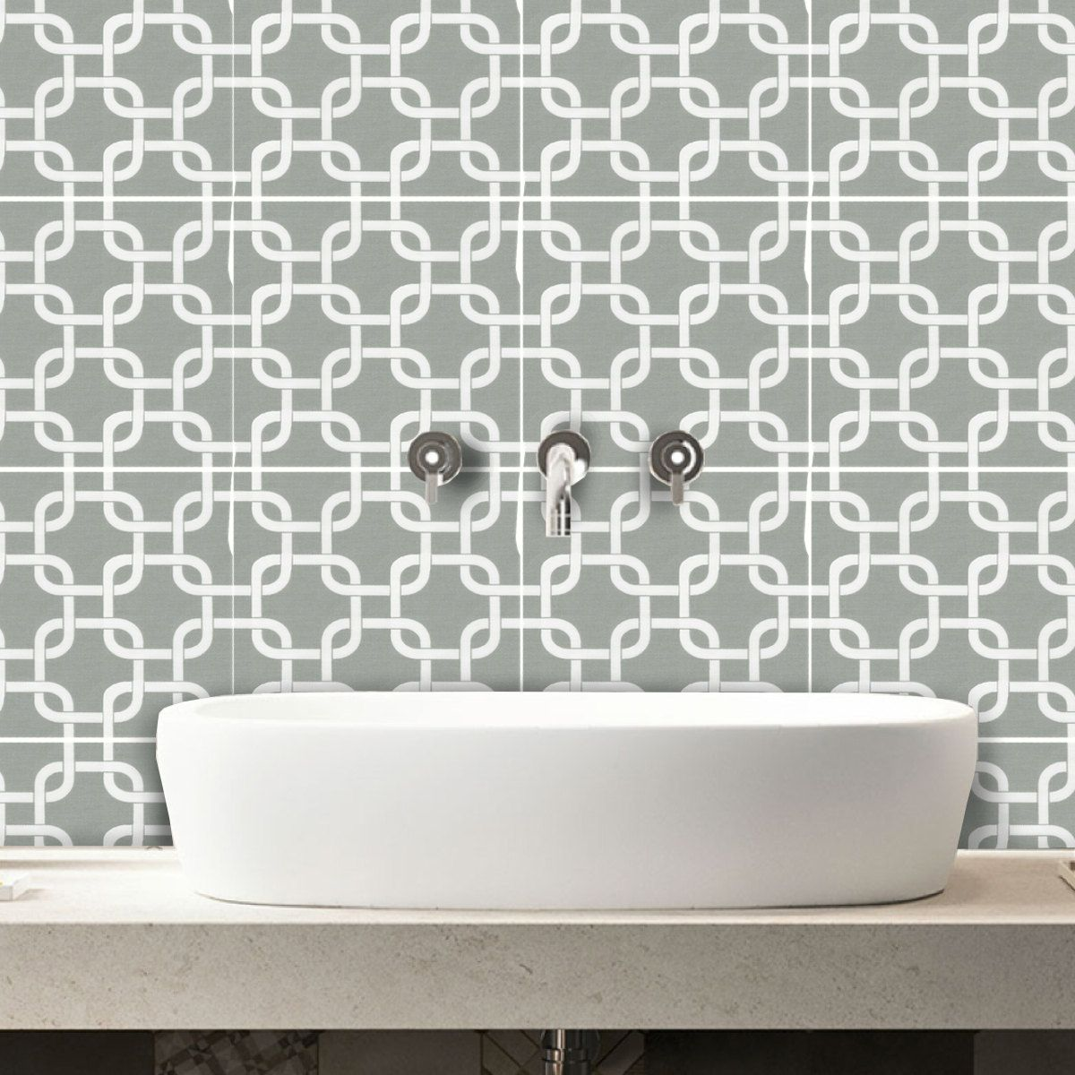 Awesome Tile Stickers   Decal For Kitchen/Bathroom Back Splash Or Floor: BX303 Sage  By