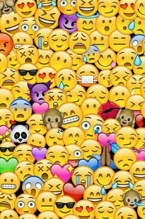 Pleins D Emojis Fond D Ecran Fond D Ecran Colore Fond D Ecran Emoji Iphone Emoji Mignon