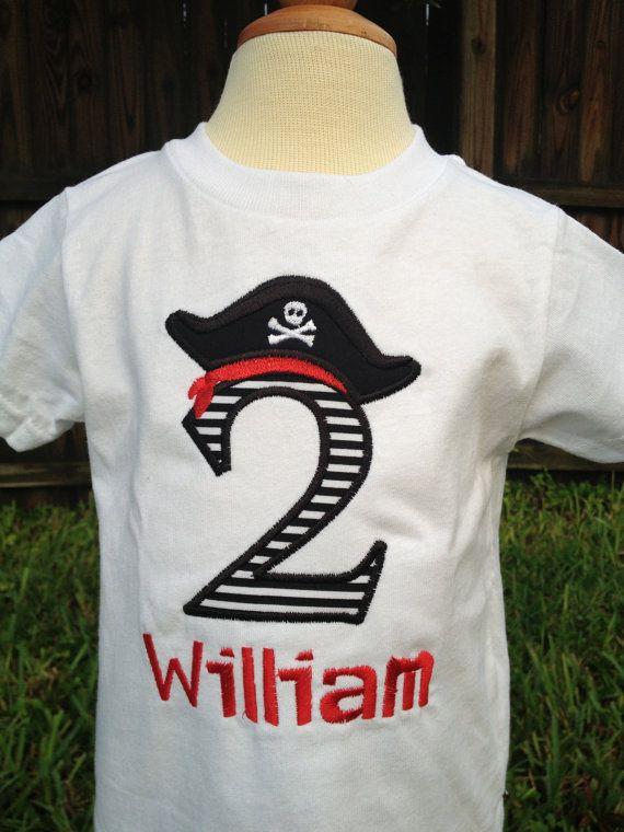 Personalized Birthday Pirate Shirt