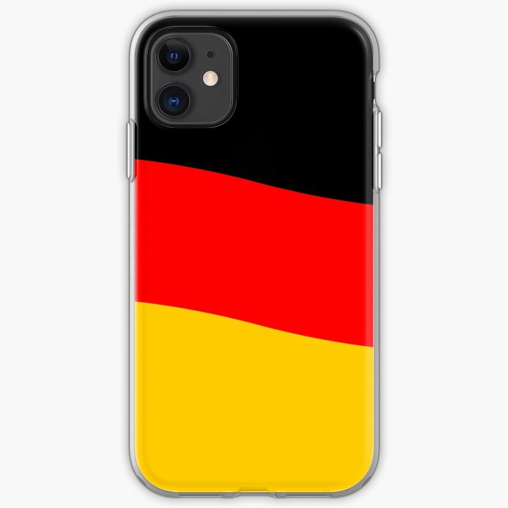 'Black Red and Yellow German Flag Wave' iPhone Case by