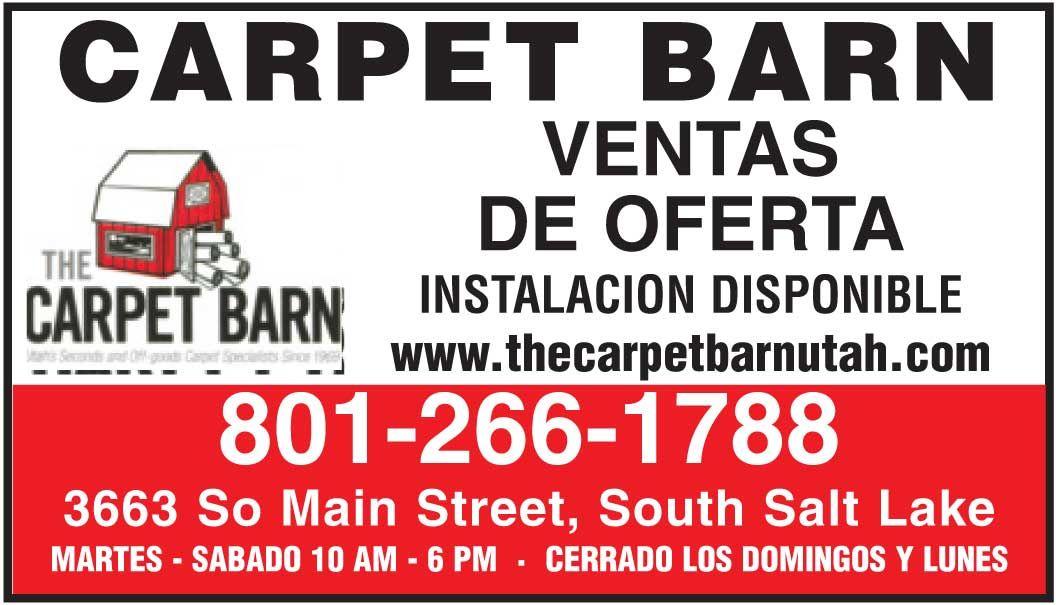 ALFOMBRAS VENTA EN UTAH - Guia Local Latina, Carpet Barn 801-266-1788 Hispanic online Advertising