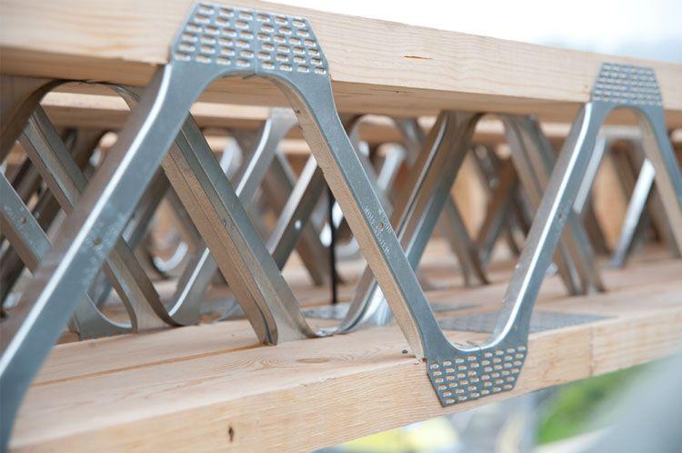 Metal Web Floor Joist Close Up