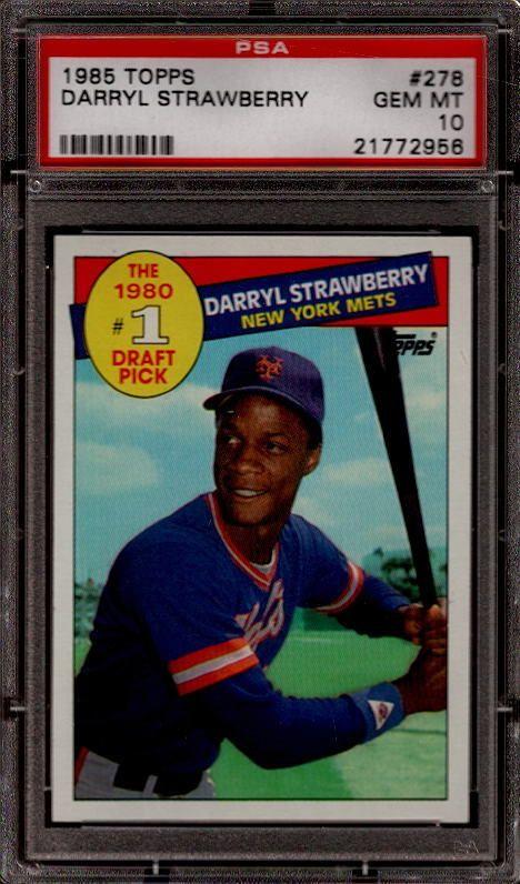 1985 Topps Darryl Strawberry Baseball Card Collectibles