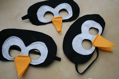 Felt Penguin Mask @Maureen Boyden, just saw this and thought of Peter, Peter Penguin! Although, it would still probably shift around and be hard to look through. Oh, and I guess it doesn't really show the kids face....hmmm...never mind!! :) I think I'll stop making suggestions now! Lol! :)