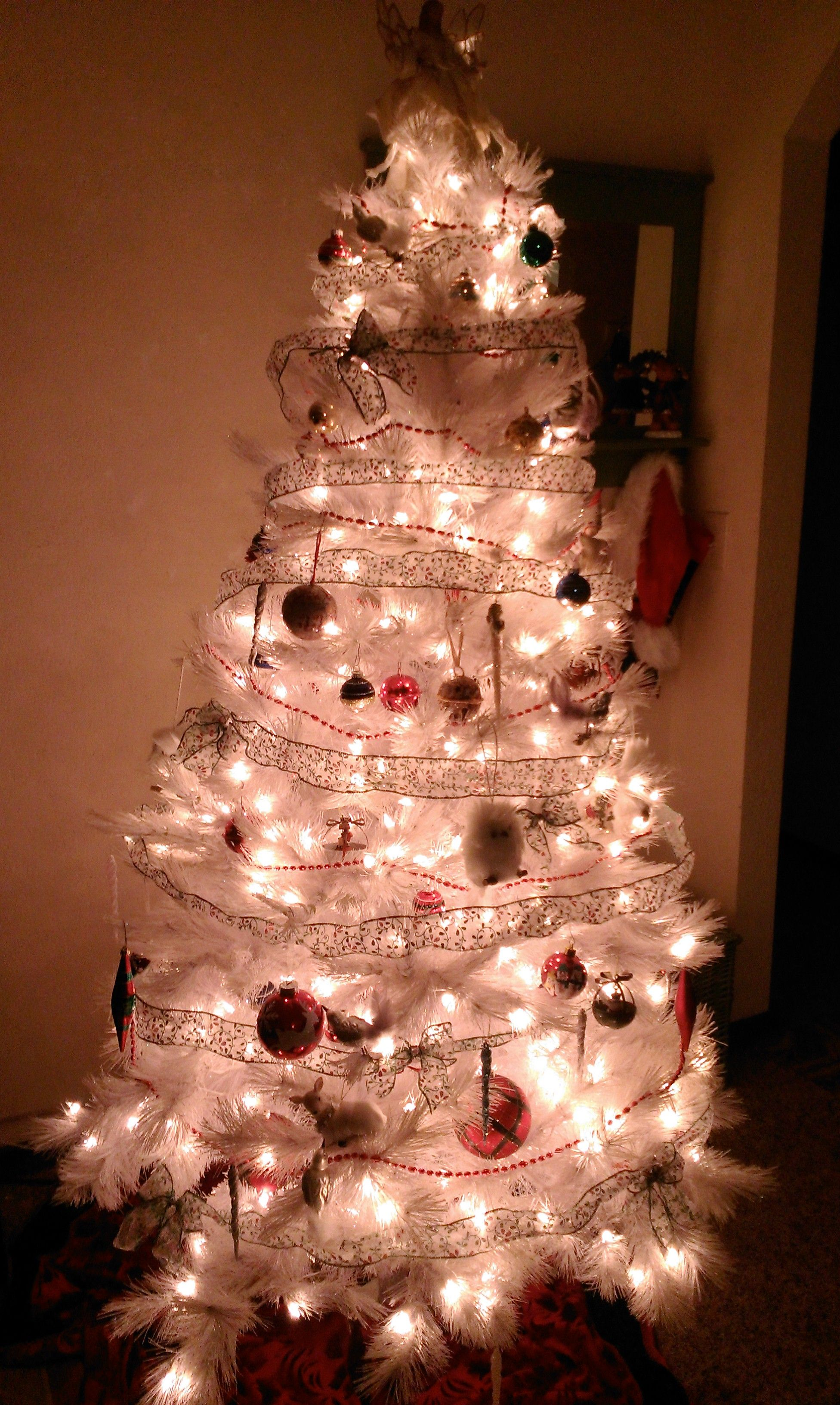 White tree with white lights