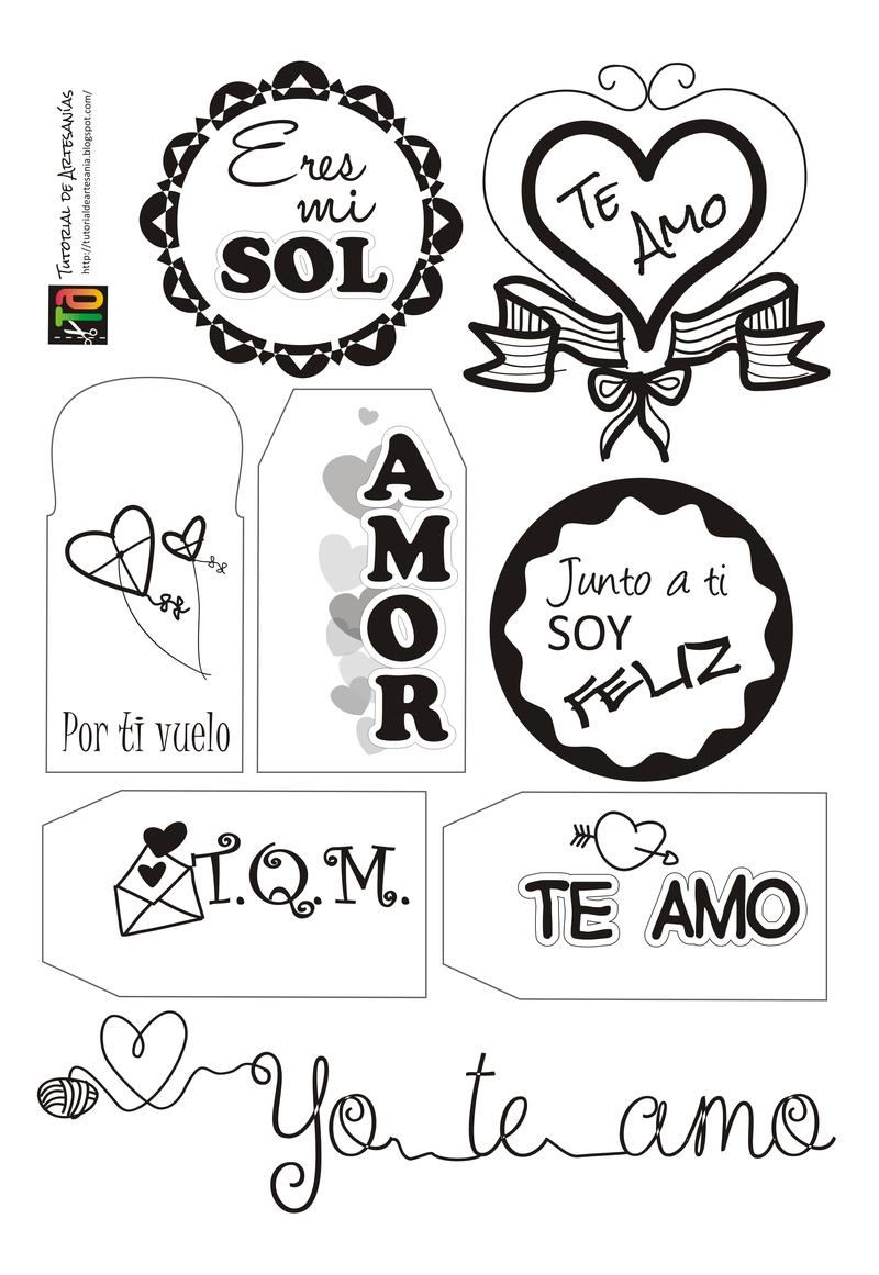 Muestra De Etiquetas Para San Valentin Por Tutorial De Artesanias