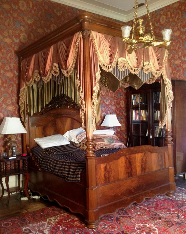 transitional victorian canopy plantation bed 8 ft 10 in t 74 in