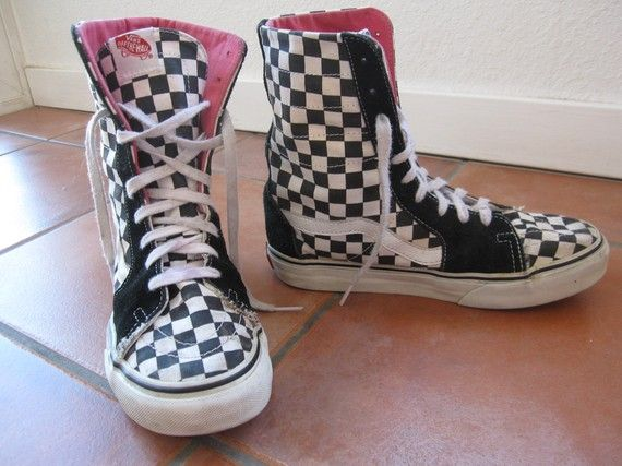 8004d42c1f7d1e Vans Super Sk8 Hi Top Checkerboard Shoes