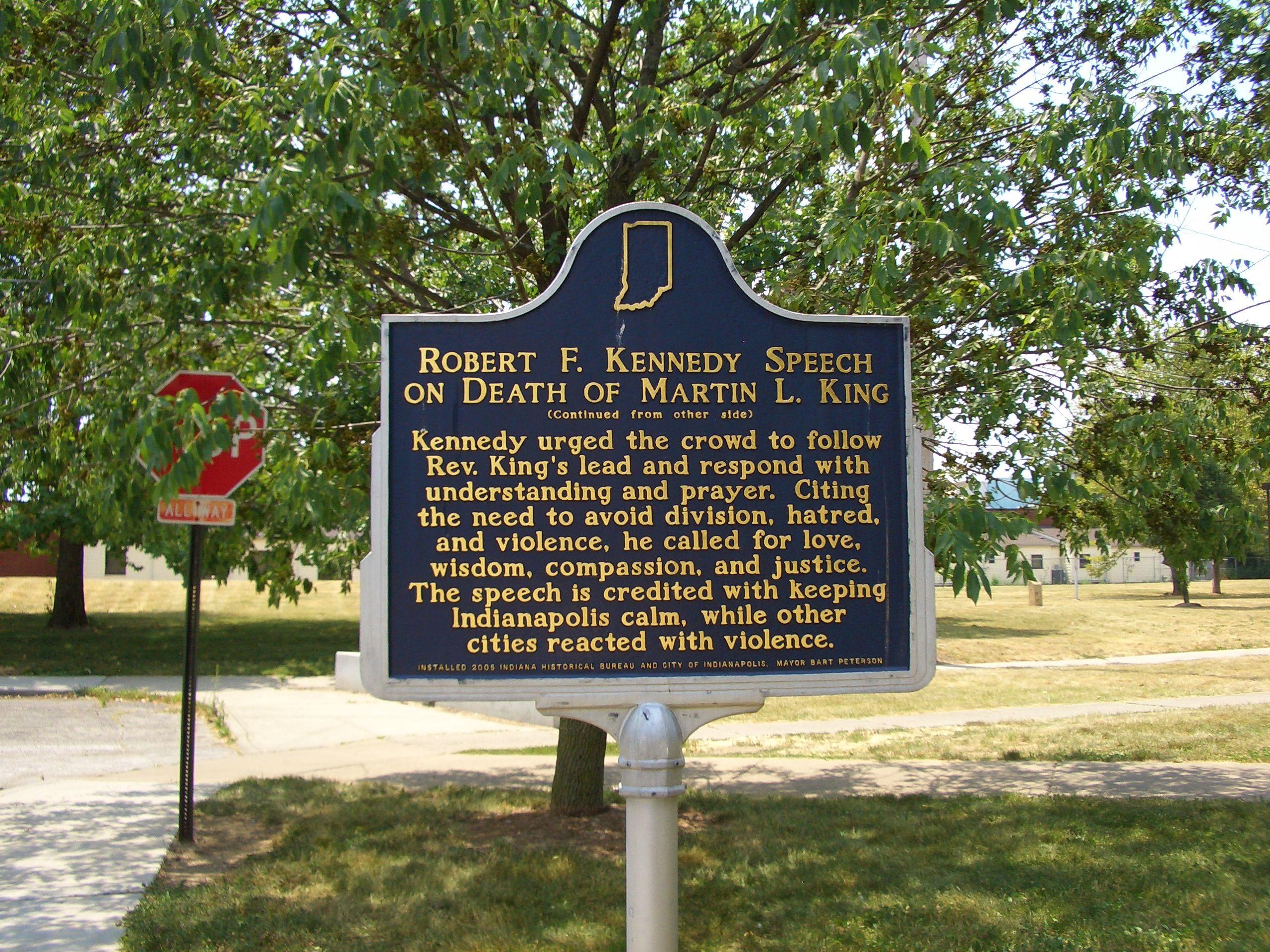 Rfk Grave Quotes: MLK Park Robert F. Kennedy Speech Memorial