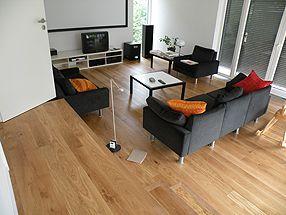 Eiche Dielen Parkettboden Wohnzimmer